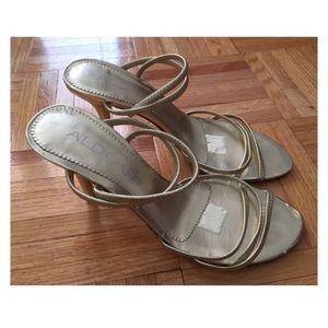 Gold Aldo Heels Size 36